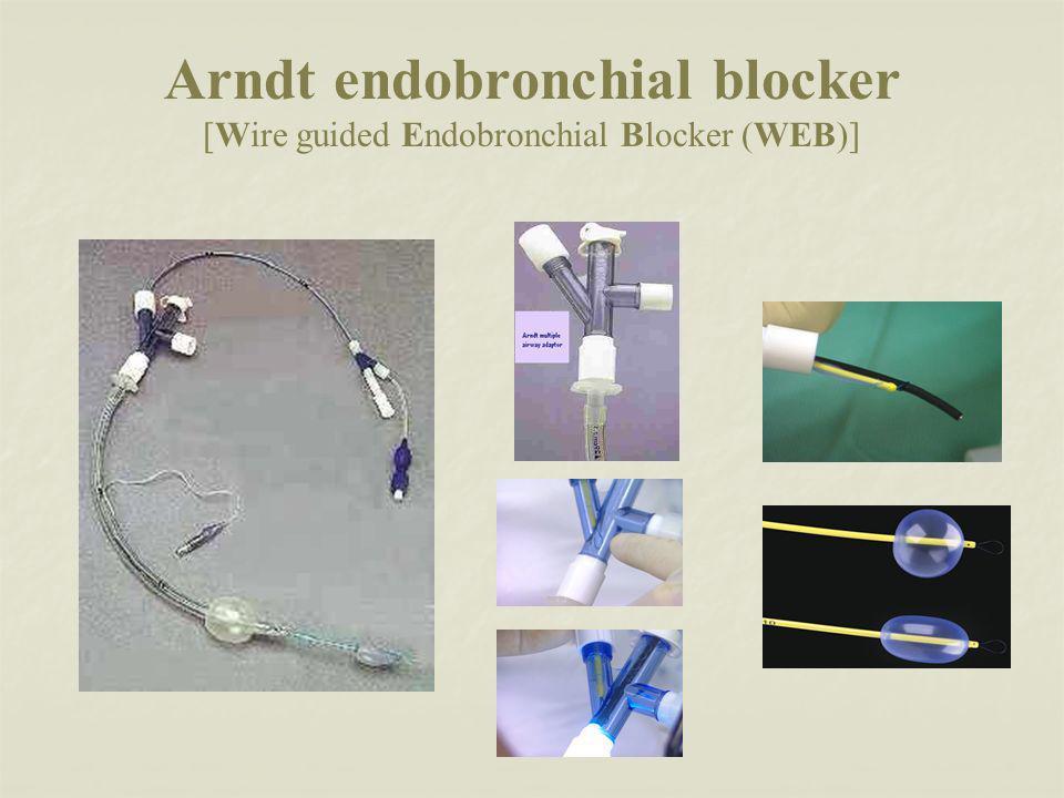 Arndt endobronchial blocker [Wire guided Endobronchial Blocker (WEB)]